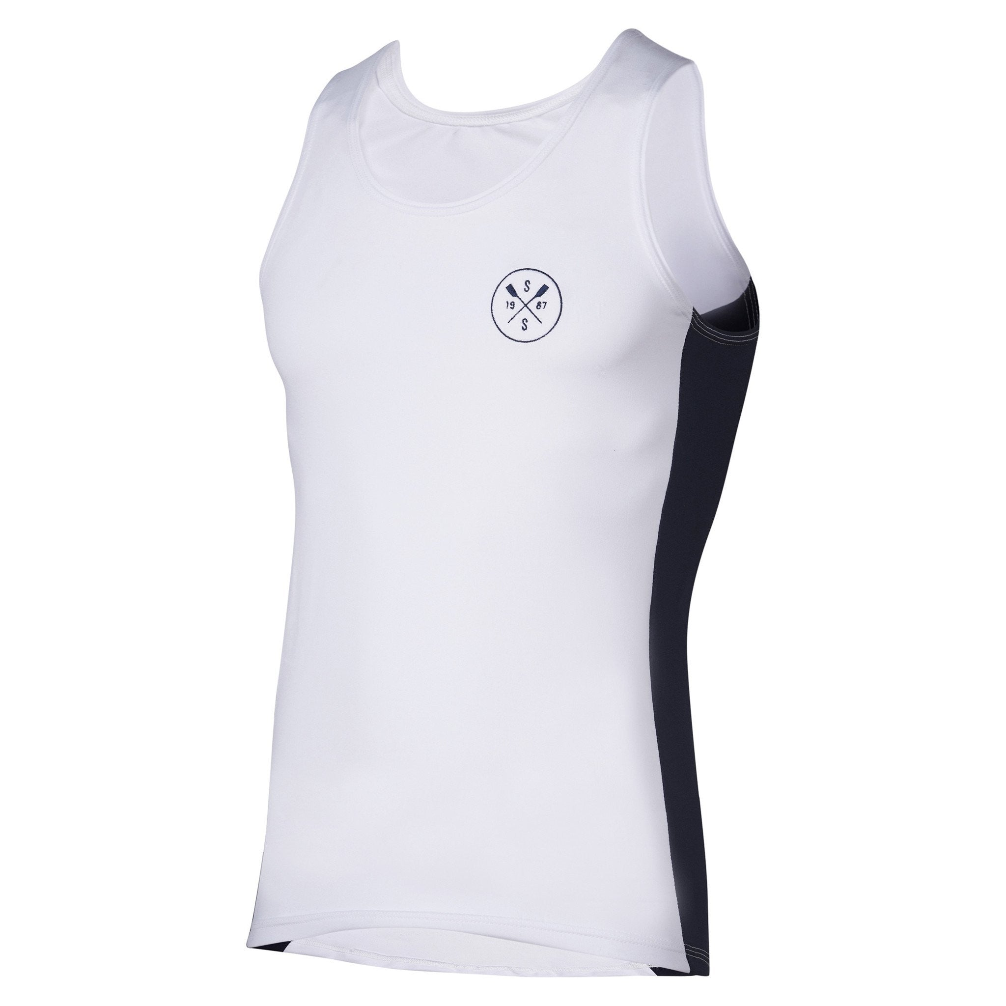 Sew Sporty Fitted Tech Tank - Dryflex Poly Spandex (White)