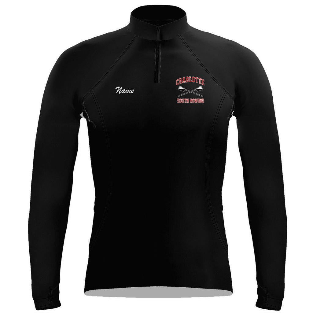 Charlotte Youth Rowing Club Ladies Performance Thumbhole Pullover
