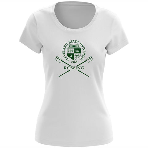 100% Cotton Cleveland State University Rowing Women's Team Spirit T-Shirt