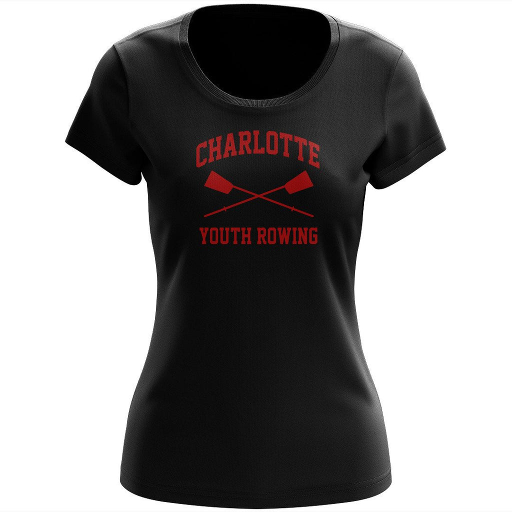 100% Cotton Charlotte Youth Rowing Club Women's Team Spirit T-Shirt