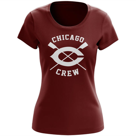 100% Cotton University of Chicago Crew Women's Team Spirit T-Shirt