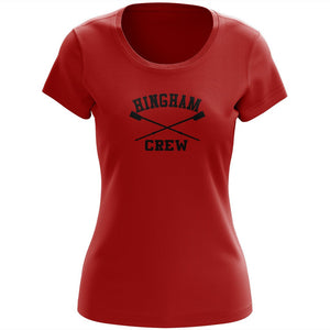 100% Cotton Hingham Crew Women's Team Spirit T-Shirt
