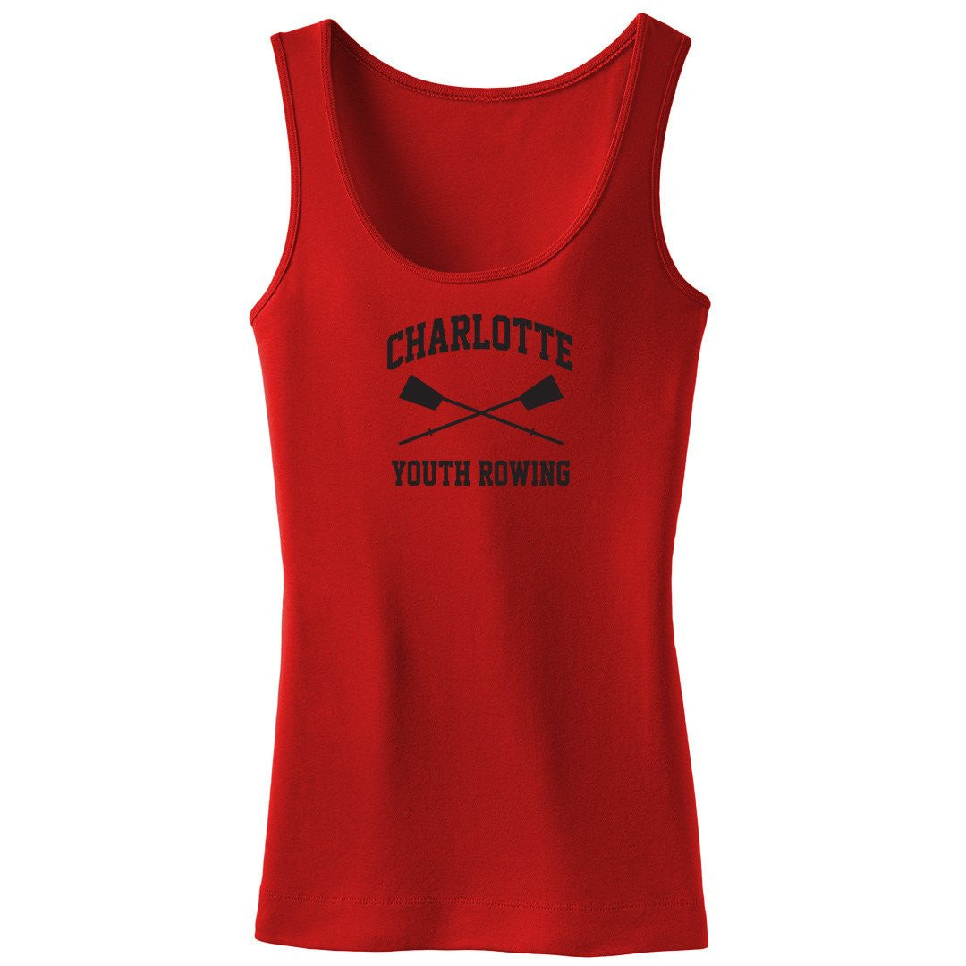 100% Cotton Charlotte Youth Rowing Club Tank Top - Womens