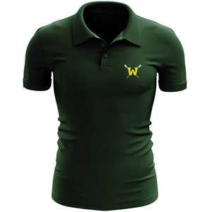 Woodbridge Crew Embroidered Performance Men's Polo