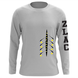 Cotton ZLAC Heather 8 Design T-Shirt - Long Sleeve