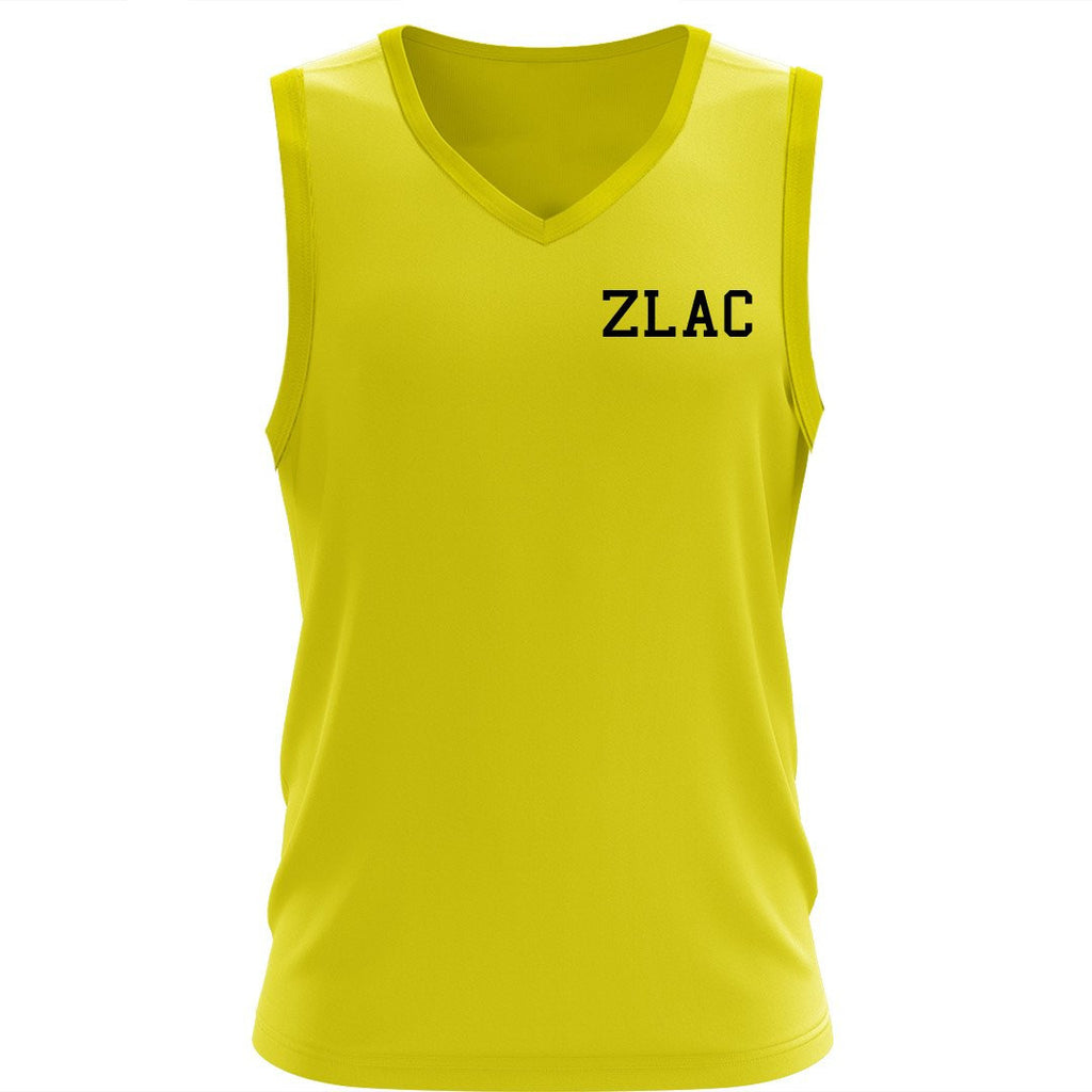 ZLAC HiViz V neck sleeveless Tee
