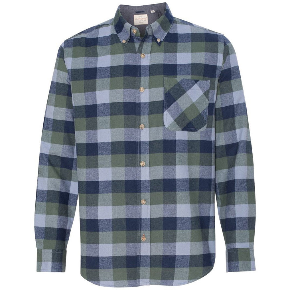 Chinook Vintage Men's Brushed Flannel Long Sleeve Shirt