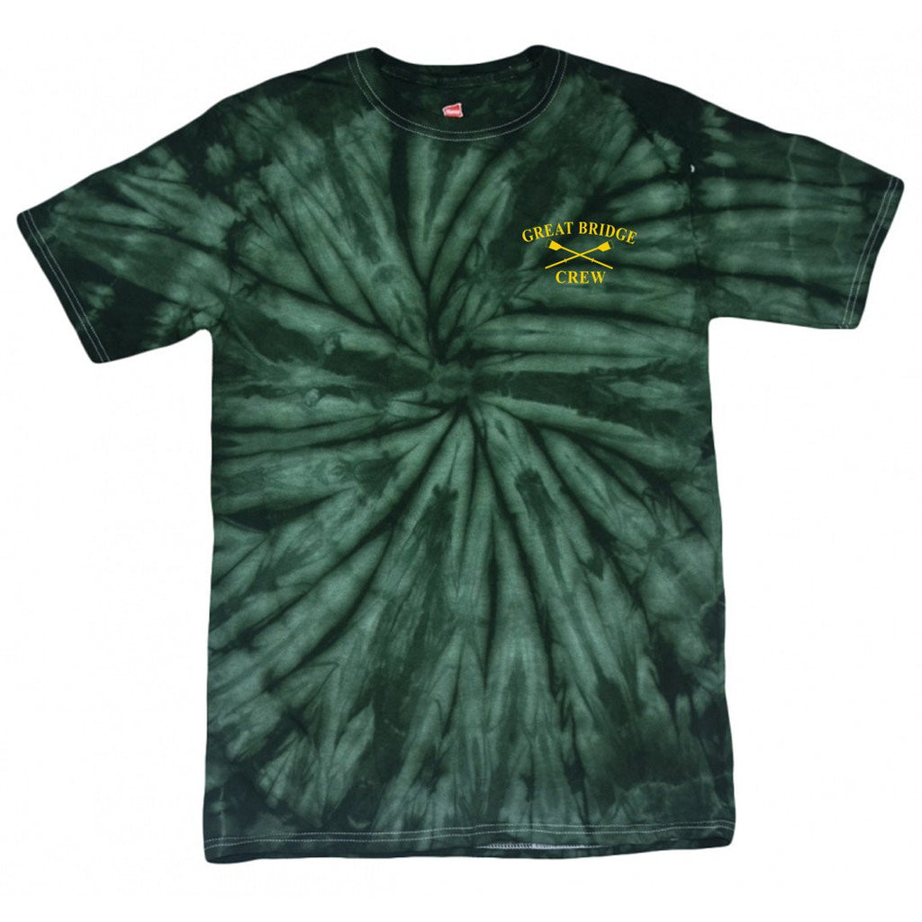 100% Cotton Great Bridge Crew Tie Dyed T-Shirt