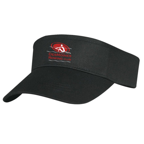 Official Des Moines Rowing Club  Cotton Twill Visor