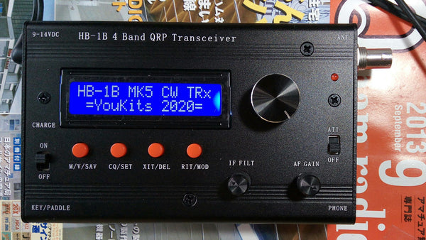 Youkits HB-1B MK5 2020 4 band QRP CW transceiver  fully assembled and tested