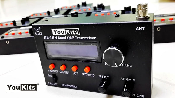 Youkits HB-1B MK3 4 band QRP CW transceiver  fully assembled and tested - Youkits