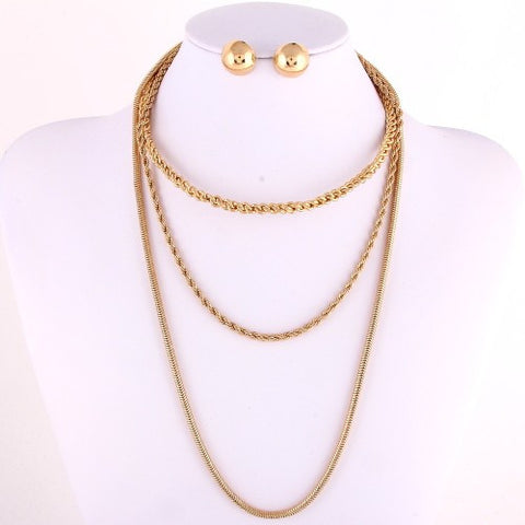 chains and choker gold color