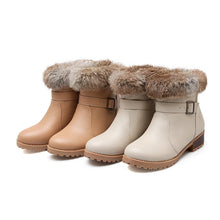 Load image into Gallery viewer, Rabbit Fur Snow Boots Women Shoes Fall|Winter 7308