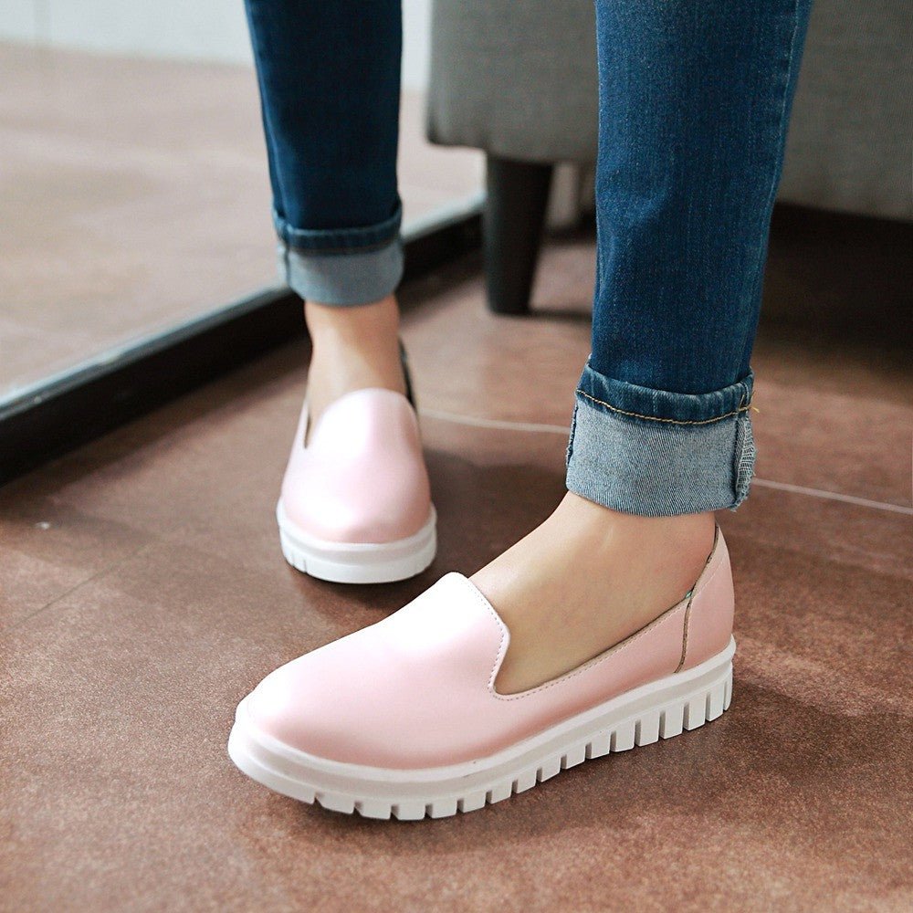 Women Wedges Beige, White, Pink Platform Shoes
