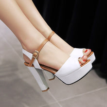 Load image into Gallery viewer, High Heels Sandals Pumps Platform Fish Mouth Women Shoes