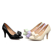 Load image into Gallery viewer, Bow Pumps Platform High Heels Women Spike Shoes 4693