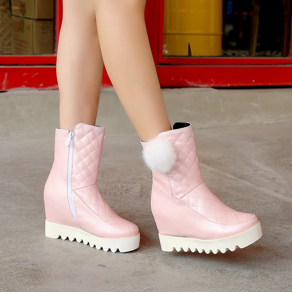 Ball Snow Boots Women Wedges Shoes Fall|Winter 2062