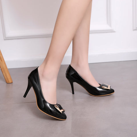 Womens High Heel Shoes Metal Lady Pumps Party Dress Shoes