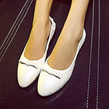 Load image into Gallery viewer, Women Flats Bow Loafers Foldable Ballet Shoes