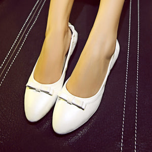 Women Flats Bow Loafers Foldable Ballet Shoes