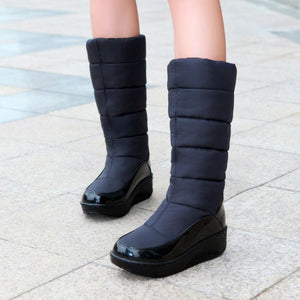 Warm Down Tassel Snow Boots Platform Shoes Knee High Boots 2332