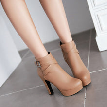 Load image into Gallery viewer, Buckle Ankle Boots High Heels Women Shoes Fall|Winter 5349