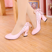 Load image into Gallery viewer, Women High Heels Shoes Cross Straps Pumps 5411