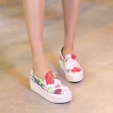 Load image into Gallery viewer, Flower Printed Wedges Platform High Heels Women Shoes 2773
