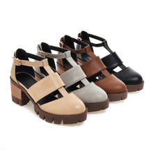 Load image into Gallery viewer, Casual Sandals Pu Leather Pumps Platform High-heeled Shoes Woman
