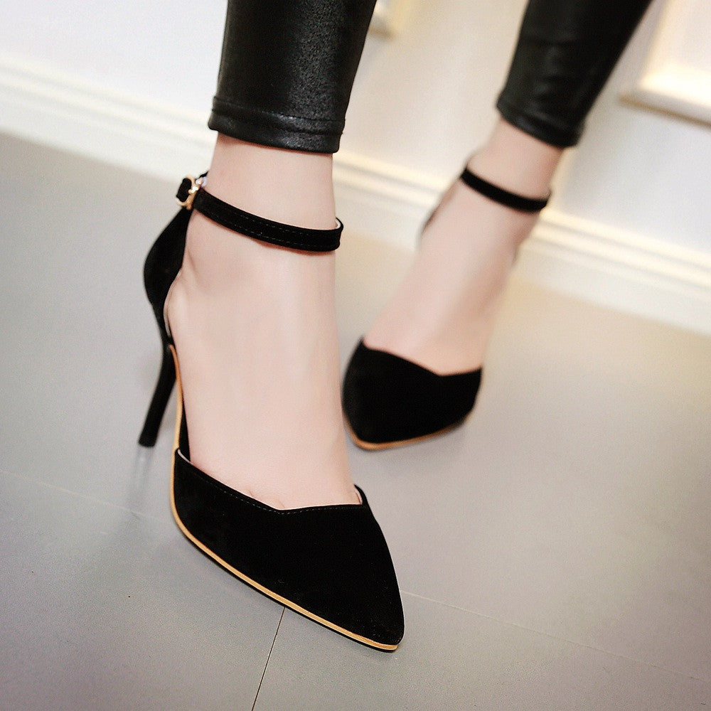 Pointed Toe Sandals Women Pumps Spike Stiletto High-heeled Shoes Woman