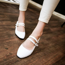 Load image into Gallery viewer, Stone Grained Pumps Platform High Heels Women Shoes 4719