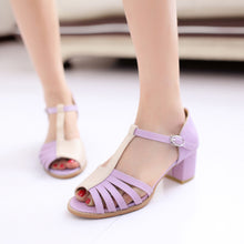 Load image into Gallery viewer, Peep-Toes-High-Heels-Sandals-Women-Pumps 8528