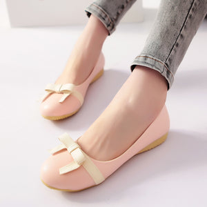 Women Flats Loafers Bowtie Ballet Shoes  1664