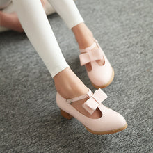 Load image into Gallery viewer, Bow T Straps Women Pumps High Heels Shoes 1256
