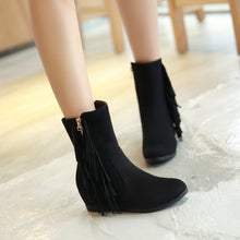 Load image into Gallery viewer, Tassel Wedges Boots High Heels Women Shoes Fall|Winter 3416