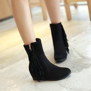 Tassel Wedges Boots High Heels Women Shoes Fall|Winter 3416