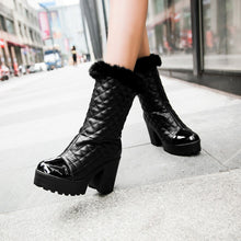 Load image into Gallery viewer, Fashion Women Ankle Boots for Autumn and Winter New Arrival Thick Heel Fur 8980