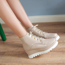 Load image into Gallery viewer, Lace Up Platform Shoes Wedges Women Shoes Fall|Winter 6898
