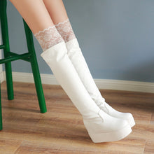 Load image into Gallery viewer, Lace Knee High Boots Platform Women Shoes Fall|Winter 7955