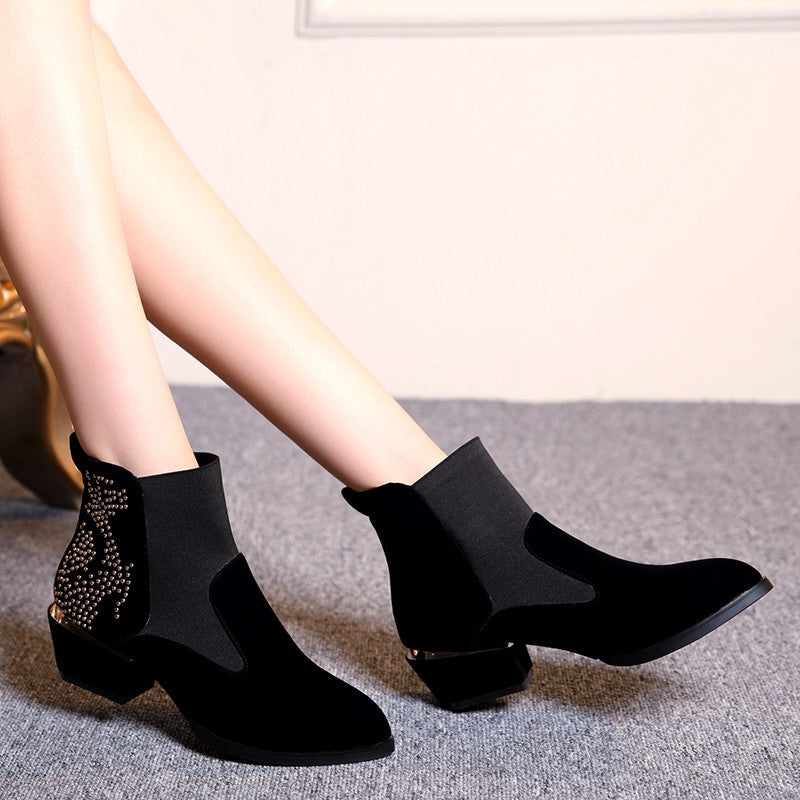 Studded Ankle Boots High Heels Women Shoes Fall|Winter 2376