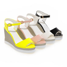 Load image into Gallery viewer, Summer Wedges Sandals Ankle Straps Platform Shoes Woman