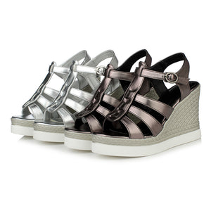 Women Gladiator Sandals Wedges Platform High-heeled Shoes