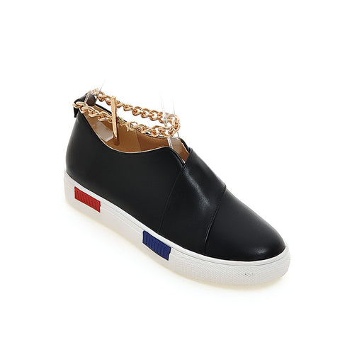 Casual Women Sneakers with Chains Platform Shoes 7571