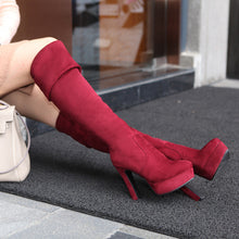 Load image into Gallery viewer, Women Over the Knee Boots Platform Artificial Suede High Heels Shoes Woman 2016 3557