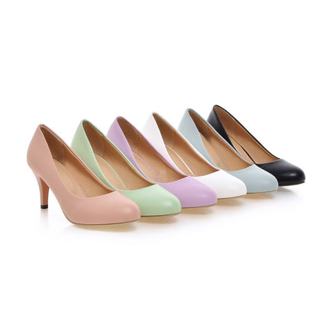 Candy Color Women Pumps High Heels Dress Shoes