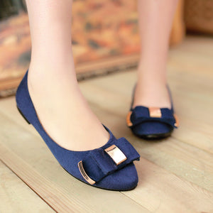 Bow Women Flats Casual Shoes 9775