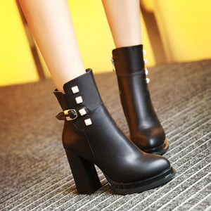 Studded Ankle Boots High Heels Women Shoes Fall|Winter 2106