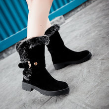 Load image into Gallery viewer, Rabbit Fur Women Boots with Buckle Women Shoes Fall|Winter 4408