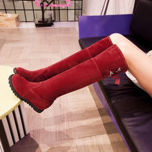 Load image into Gallery viewer, Slik Knot Knee High Boots Wedges Platform Shoes Woman