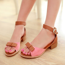Load image into Gallery viewer, Fashion Bow Sandals Women Flats Shoes 6336